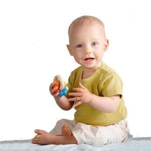 Baby met Rammelaar - Kita Kleurenwiel | Zussb