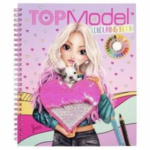 Top Model - Kleurboek met Pailettenhart - verpakking | Zussb