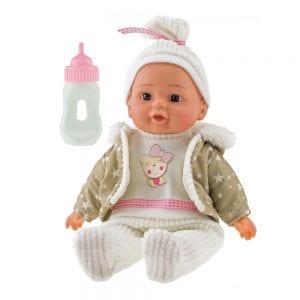 Babypop Beige met Fles | Zussb