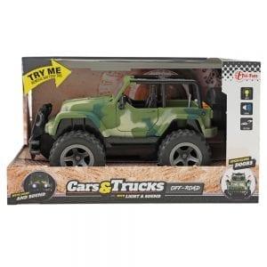 Jeep Speelgoedauto - Leger Groen verpakking | Zussb