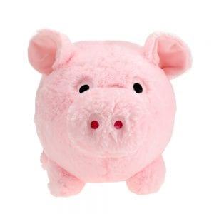 Saving Bank - Roze Pluche Spaarvarken voorkant | Zussb