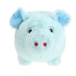 Saving Bank - Blauwe Pluche Spaarvarken voorkant | Zussb