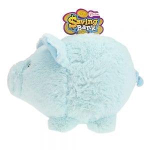 Saving Bank - Blauwe Pluche Spaarvarken | Zussb