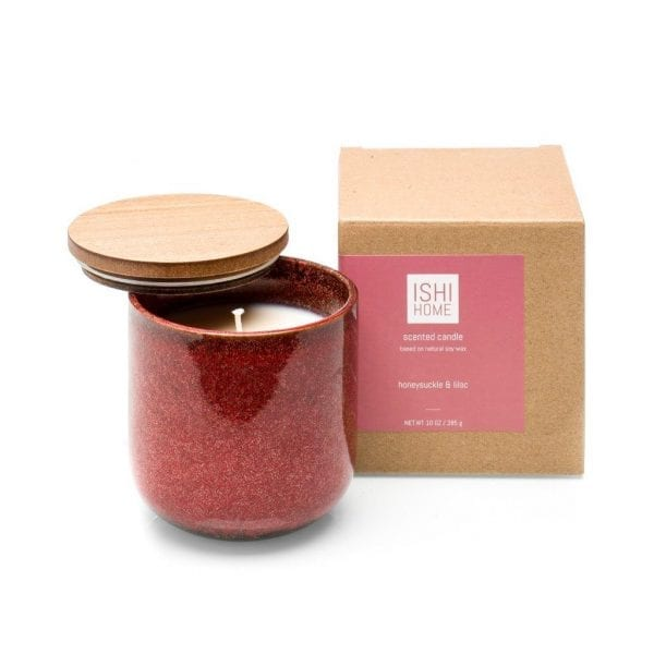 ISHI - Home Geurstokjes - Honeysuckle & Lilac - kaars met verpakking   Zussb